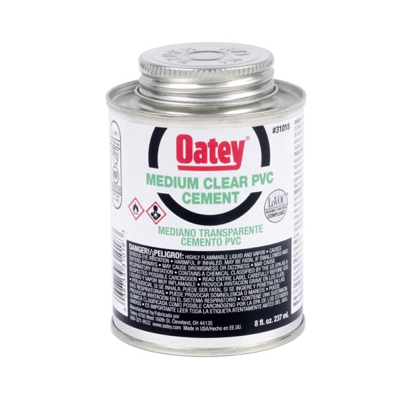 OATEY PVC MEDIUM CLEAR CEMENT