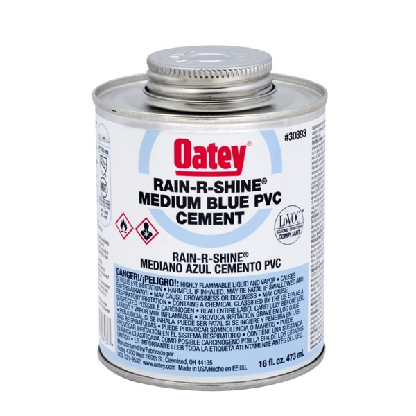 OATEY PVC RAIN-R-SHINE BLUE CEMENT
